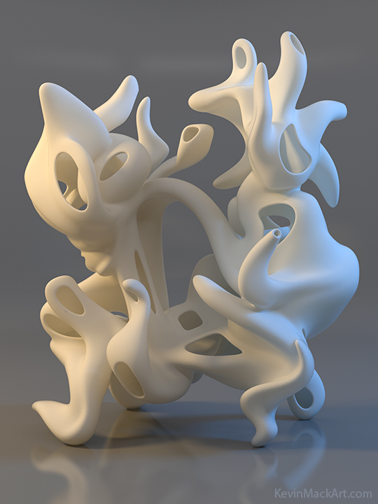 Kevin Mack Art Frank S Free Flowing Self Awareness 3d