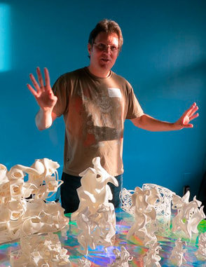 Kevin Mack with 3D printed Sculptures